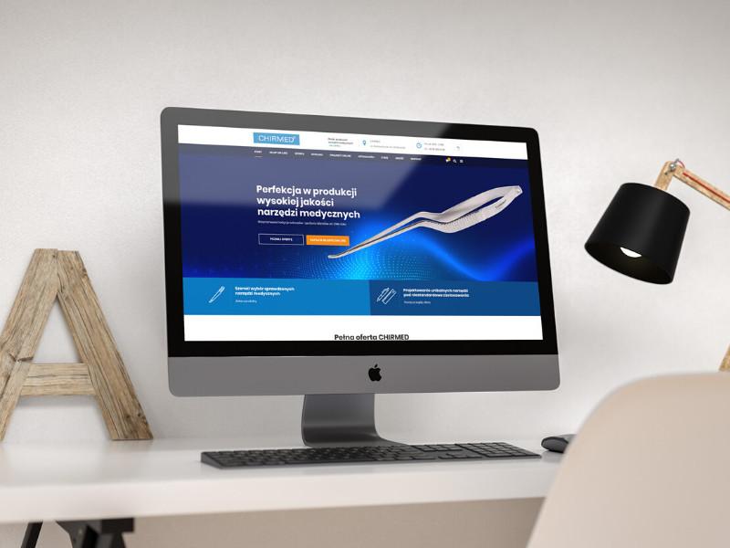 Projekt i wykonanie nowej strony www dla firmy CHIRMED