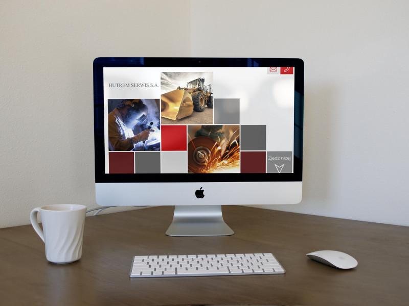 Projekt strony www dla firmy Hutrem
