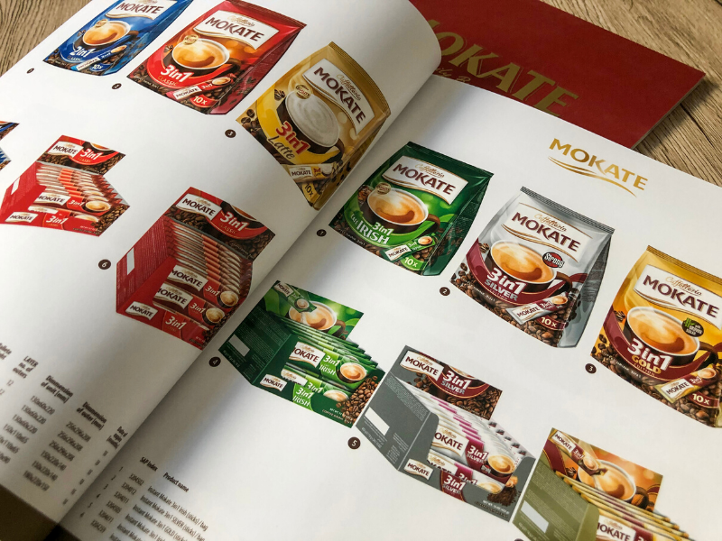 Wnętrze katalogów dla firmy Mokate