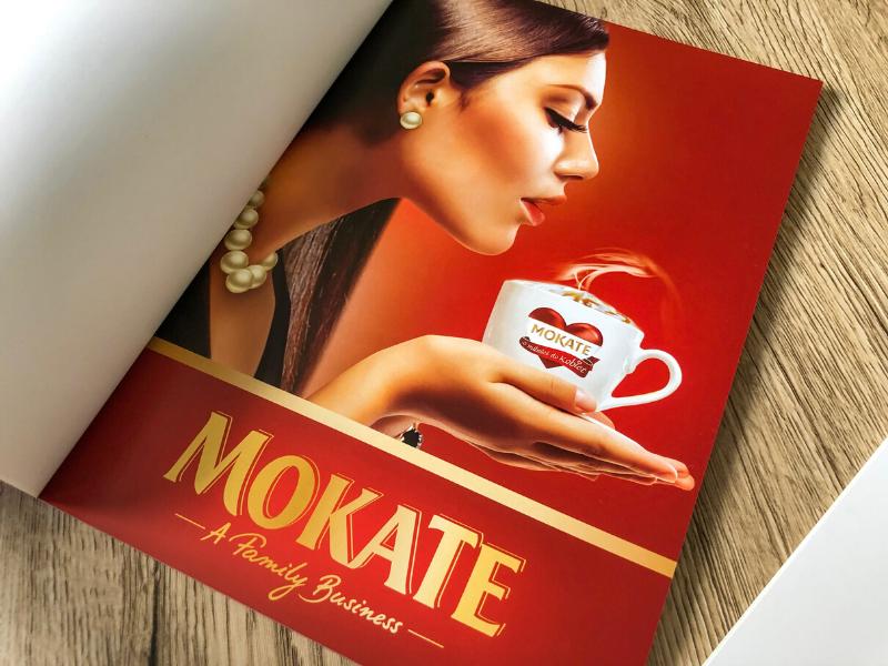 Pierwsza strona katalogu dla firmy Mokate