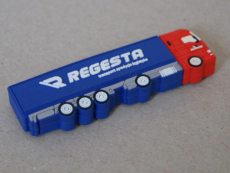 Pendrive w kształcie ciężarówki dla firmy Regesta