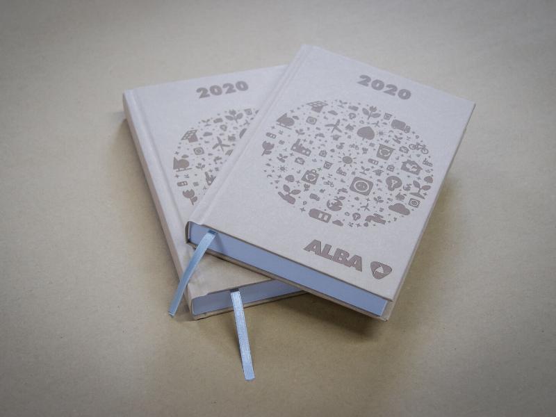 Eko kalendarze książkowe dla firmy Alba
