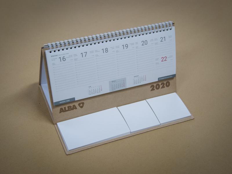 Kalendarze biurkowe dla firmy Alba