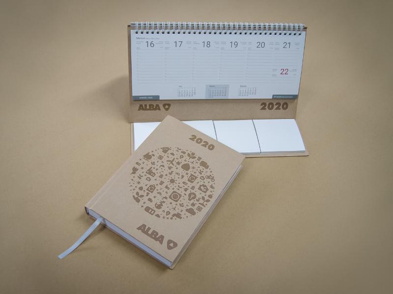 Eko kalendarze dla firmy Alba