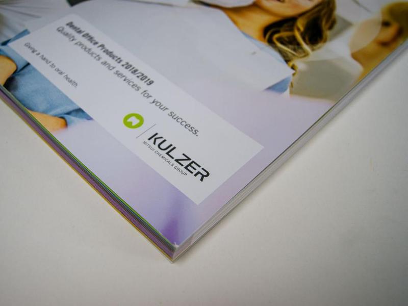 Wnętrze katalogu dla firmy Kulzer