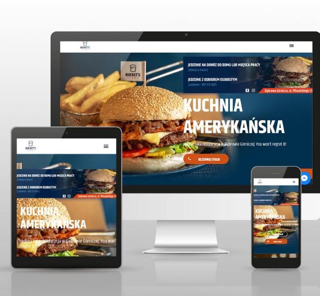 Projekt strony amerykańskiej restauracji