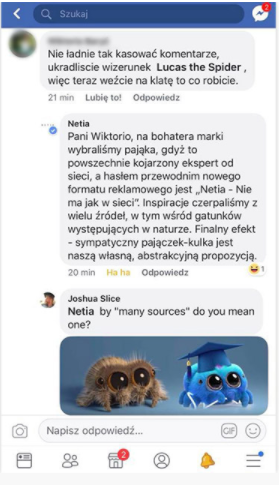 Fanpage na Facebooku - negatywne komentarze